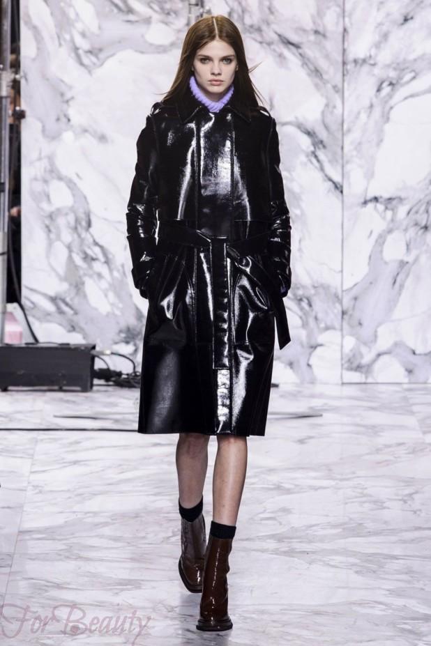 Модные кожаные пуховики зима 2017 фото женские