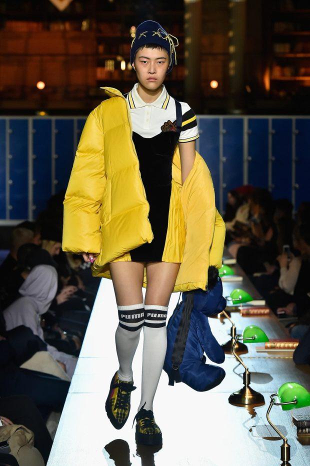 Модные женские пуховики зима 2019-2020: оверсайз желтый