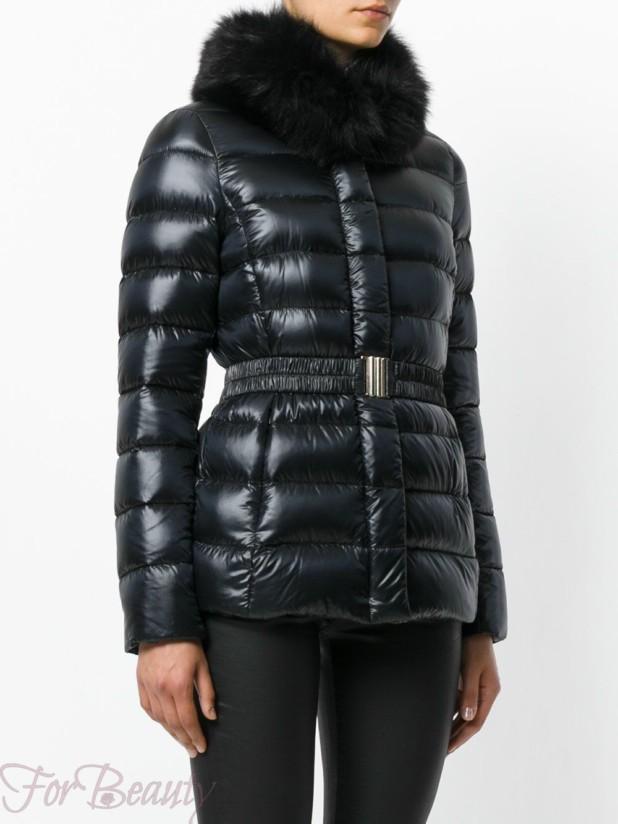Модные кожаные пуховики с мехом зима 2017 фото женские