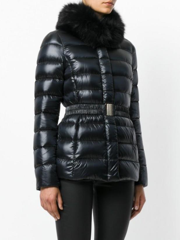 Модные женские пуховики зима 2019-2020: кожаный с мехом