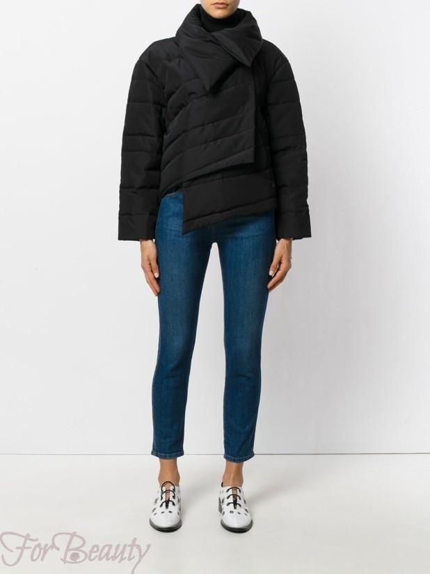 Модные короткие пуховики — косуха зима 2017 фото женские
