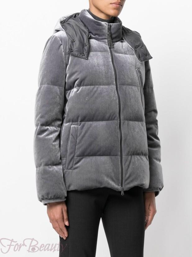 Модные короткие бархатные пуховики зима 2017 фото женские