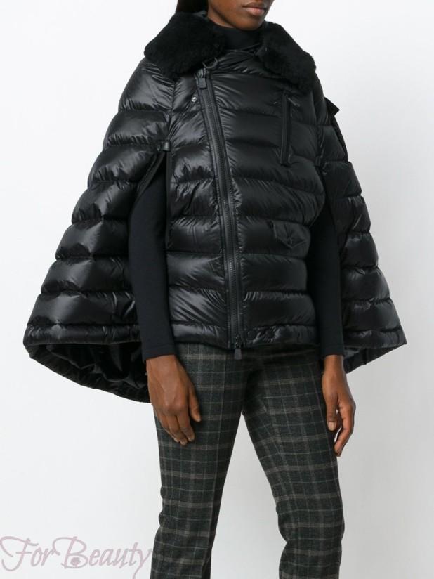 Модные пуховики с расклешенным низом зима 2017