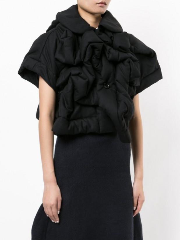 Модные женские пуховики: с рукавом в три четверти