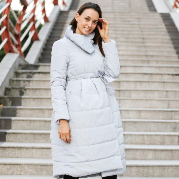 Модные женские пуховики зима 2019-2020: оверсайз лиловый