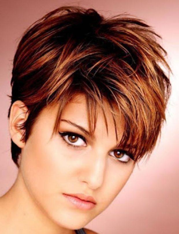 Модная стрижка на короткие волосы фото для женщин за 40