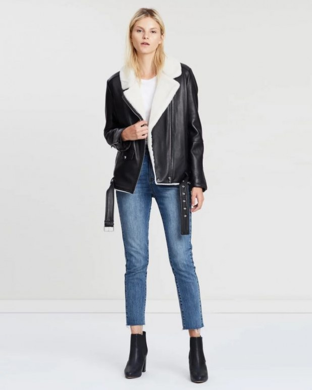 женские куртки осень зима 2019-2020: косуха с мехом