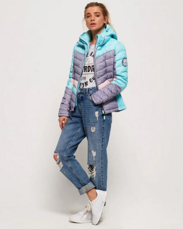 женские куртки осень зима: спортивная бирюзовая
