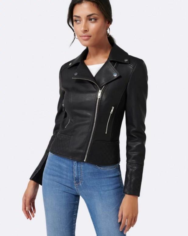 женские куртки осень зима: косуха классическая