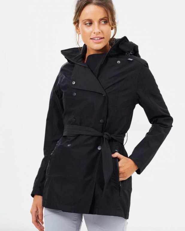 женские куртки осень зима: парка черная