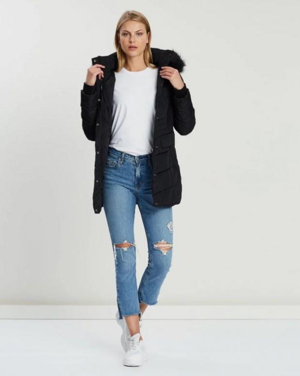 женские куртки осень зима 2019-2020: черная