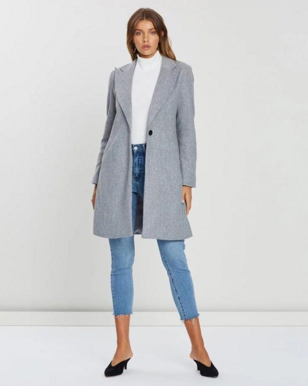 женские куртки осень зима 2019-2020: серое пальто