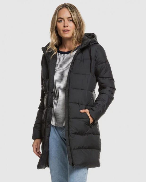 женские куртки осень зима 2019-2020: серый пуховик