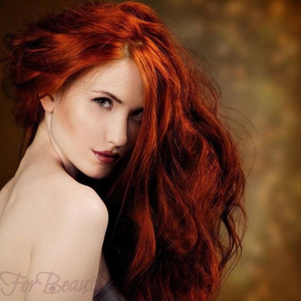 Модный цвет волос для рыжих 2018