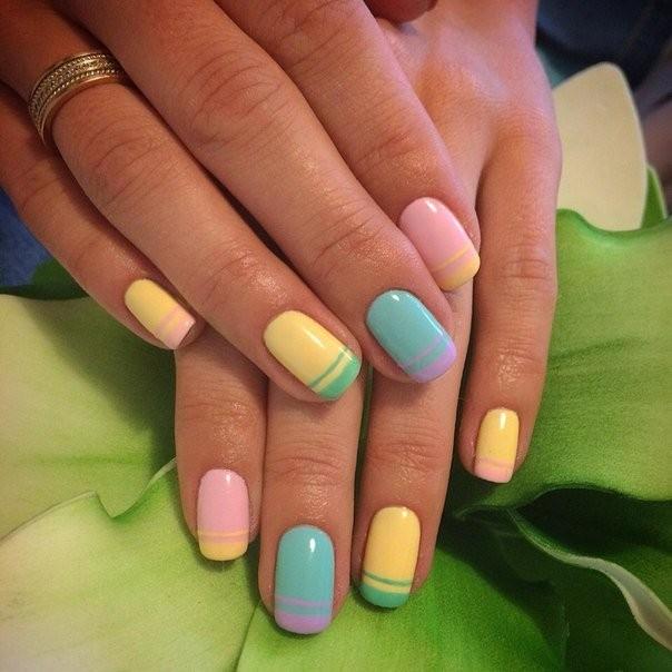 Наращивание ногтей фото новинки 2018 2019 френч цветной