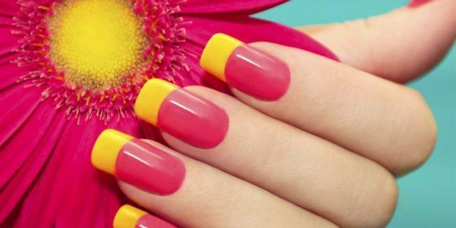 Наращивание ногтей фото новинки 2018 2019 френч разных цветов