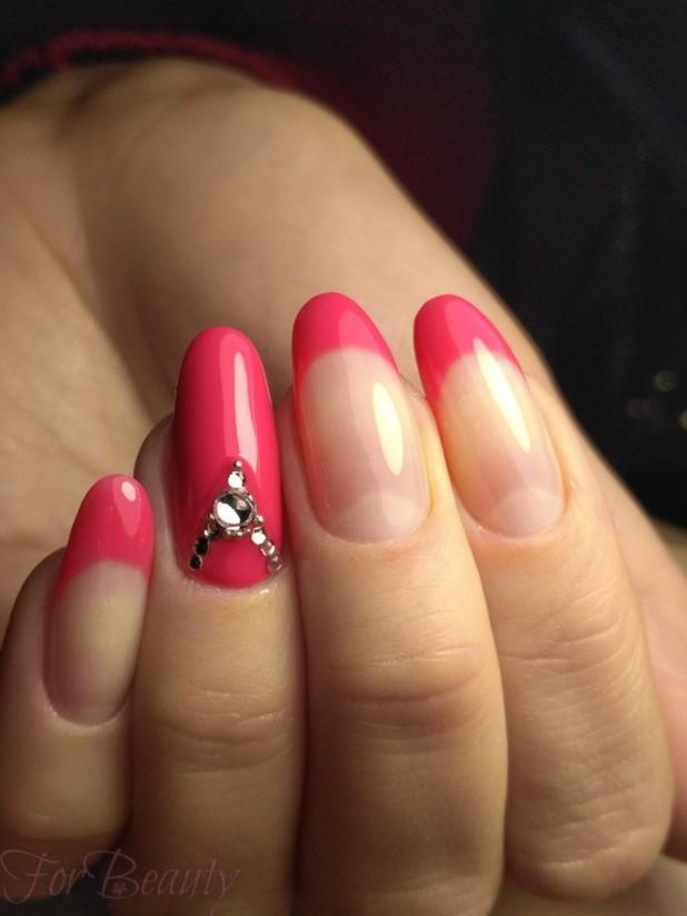Наращивание ногтей фото новинки 2017 френч розовый