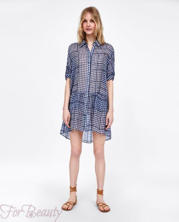 синее платье-рубашка женская 2018 2019