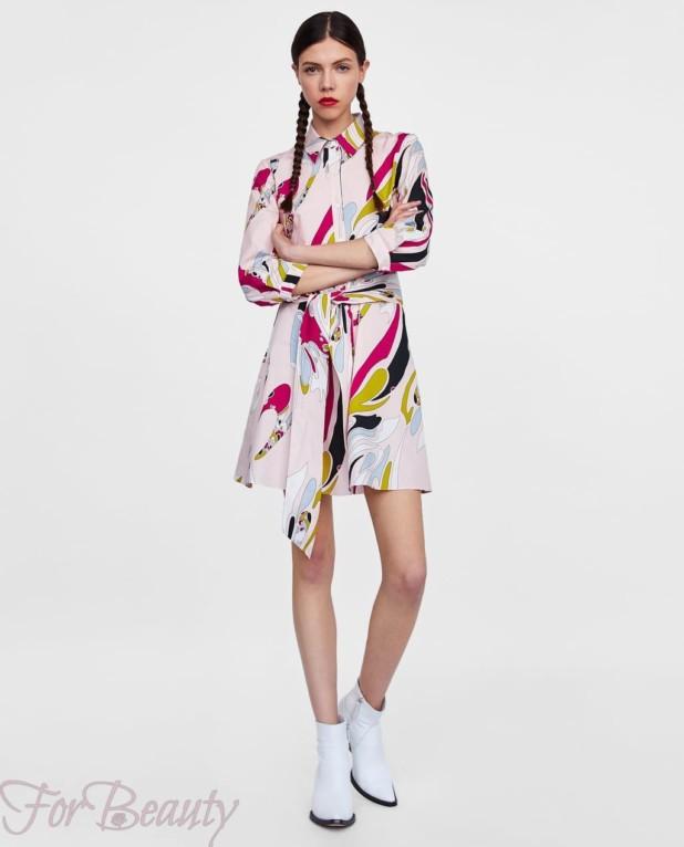 цветастое платье-рубашка женская 2018 2019