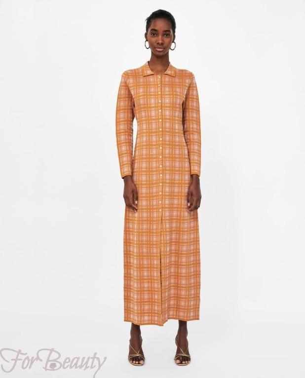 клетчатое платье-рубашка женская 2018 2019