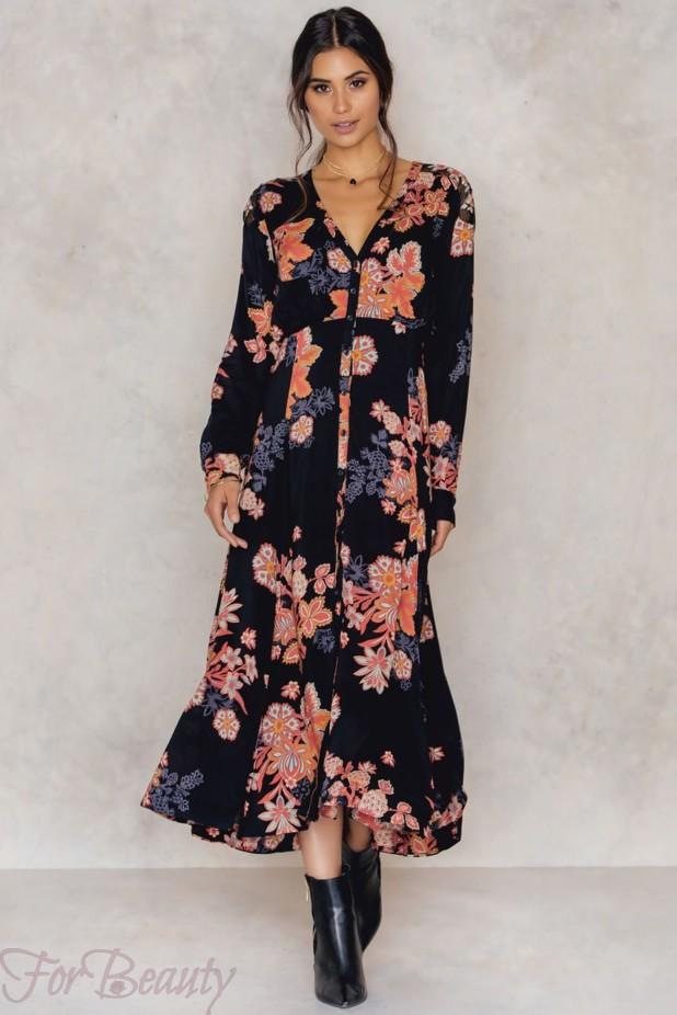 Длинное модное платье-рубашка 2018 2019 фото новинки