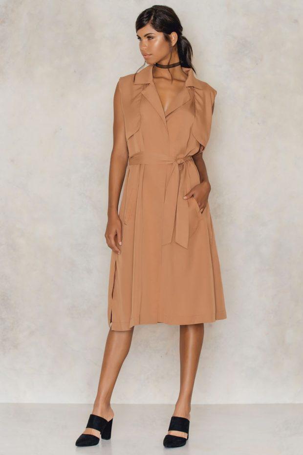 Платье-рубашка 2019 2020 фото новинки без рукавов