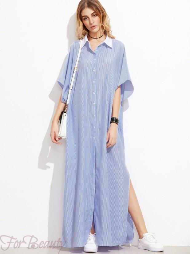 Клетчатое платье-рубашка 2017 фото новинки макси