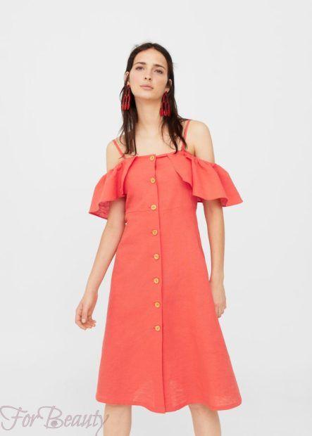 Красное платье-рубашка 2018 2019 фото новинки стильное