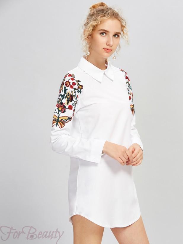Платье-рубашка 2017 фото новинки мини