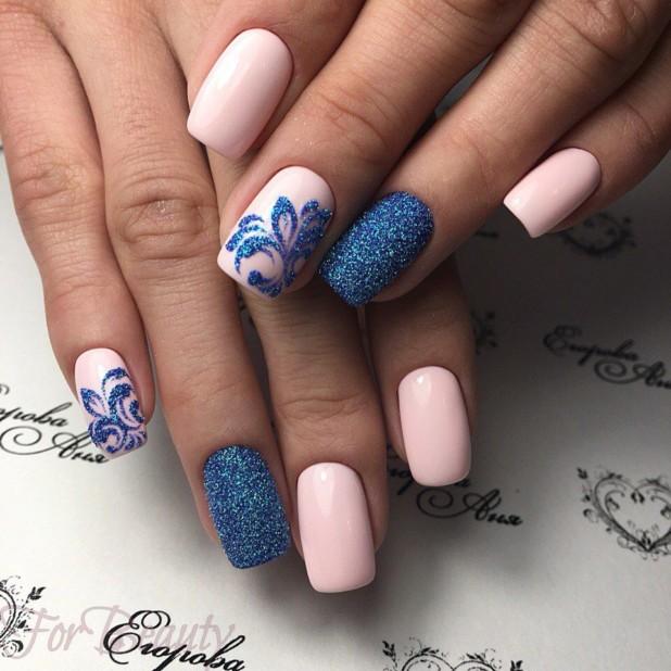 рисунок на матовых ногтях 2018 года