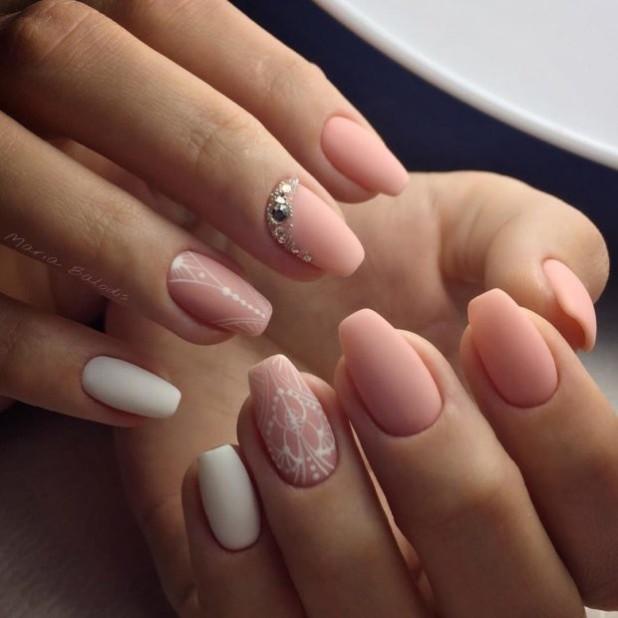 рисунок на матовых ногтях 2018 2019 года