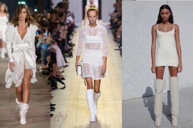 С чем можно носить белые сапоги летом