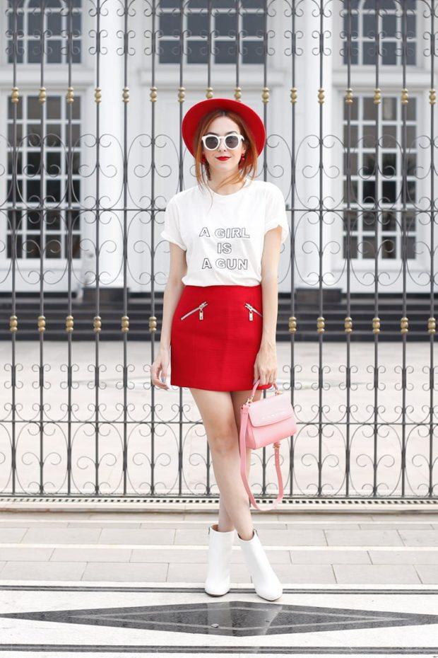 С чем можно носить белые ботильоны летом