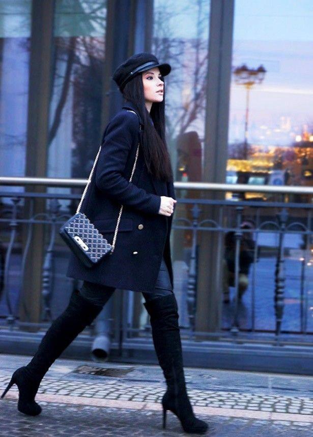 C чем носить черные замшевые сапоги