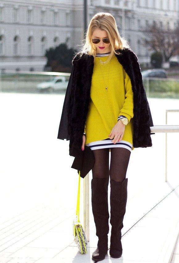С чем носить черные замшевые сапоги без каблука