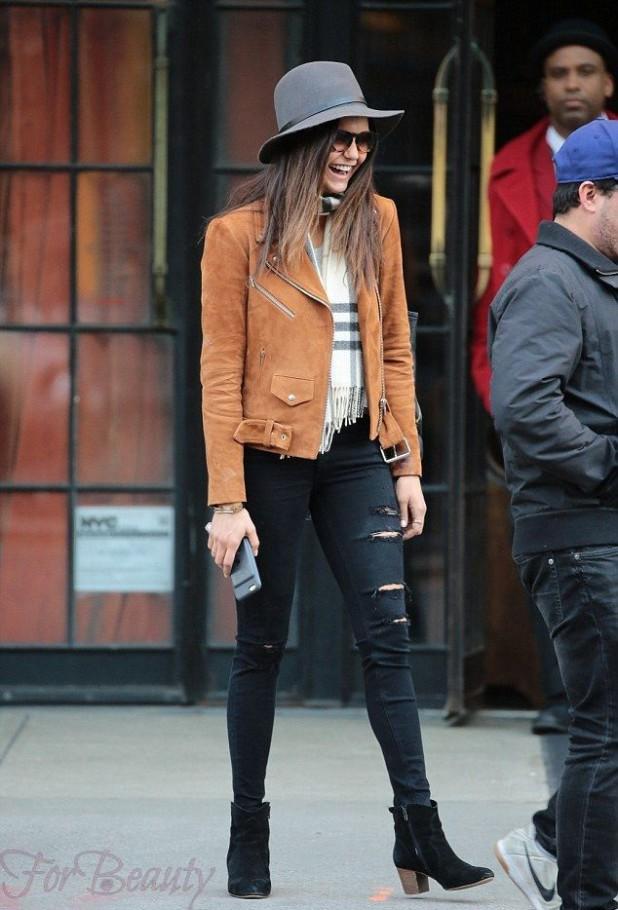 С какими джинсами носить черные замшевыеботильоны