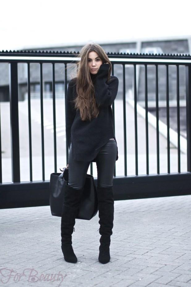 С чем носить черные замшевые сапоги без каблука летом