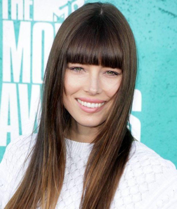 Женская стрижка «Лесенка» на длинные волосы 2018 фото