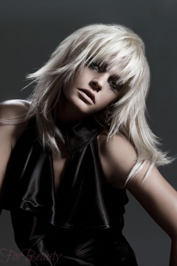 Женская модная стрижка «Асимметрия фото