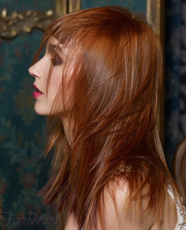 Женская стильная градуированная стрижка на длинные волосы 2018
