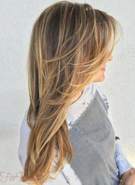 стрижка «Каскад» на длинные волосы 2021 года