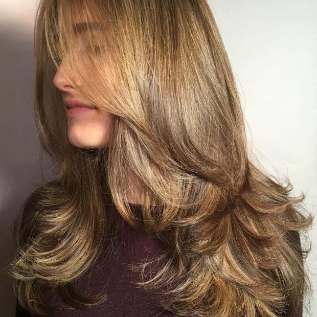 стрижка «Каскад» на длинные волосы 2020 2021