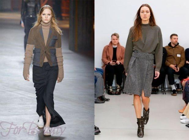 Модные юбки с запахом 2018 года модные тенденции