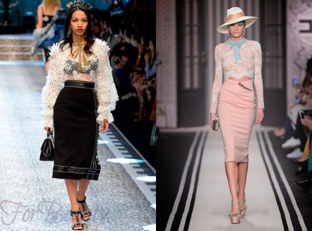 Модные юбки-карандаш 2018 года модные тенденции фото