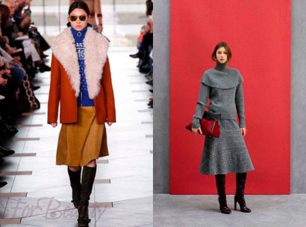 Модный теплый материал для юбок 2018