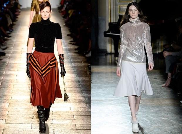 Модные короткие красная и серая