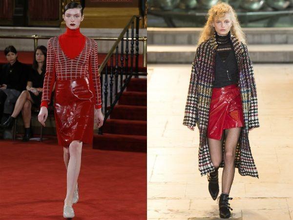 Юбки 2018 2019 года модные тенденции: красные