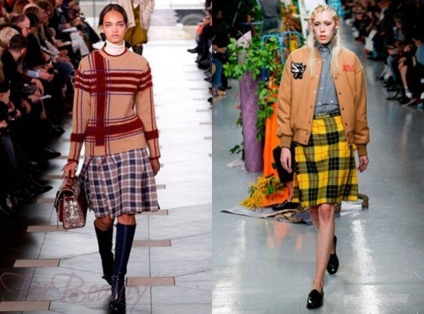 Модные юбки в стиле преппи 2018 года модные тенденции