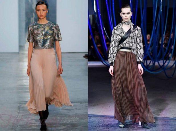 Модные юбки-плиссе 2018 года модные тенденции