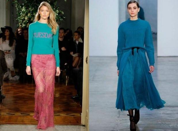 Длинные прозрачные юбки 2018 2019 года модные тенденции